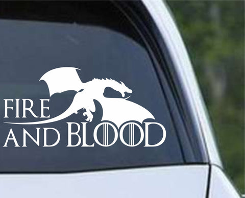 Game Of Thrones GOT - Fire and Blood Die Cut Vinyl Decal Sticker - Decals City
