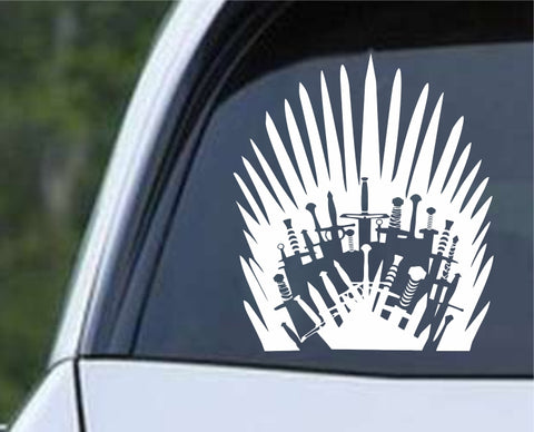 Game Of Thrones - Iron Throne Swords Die Cut Vinyl Decal Sticker - Decals City