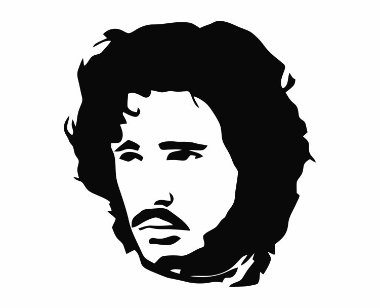 Game Of Thrones - Jon Snow Die Cut Vinyl Decal Sticker - Decals City