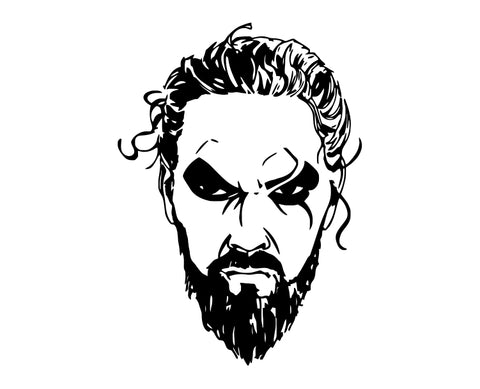 Game Of Thrones - Khal Drogo ver2 Die Cut Vinyl Decal Sticker