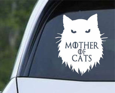 Game Of Thrones - Mother of Cats Die Cut Vinyl Decal Sticker - Decals City