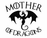 Game Of Thrones - Mother of Dragons Die Cut Vinyl Decal Sticker - Decals City