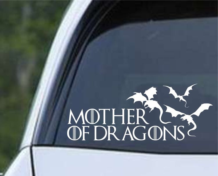 Game Of Thrones - Mother of Dragons ver2 Die Cut Vinyl Decal Sticker - Decals City