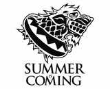 Game Of Thrones - Summer is Coming Die Cut Vinyl Decal Sticker - Decals City