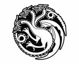 Game Of Thrones - Targaryen Dragons Die Cut Vinyl Decal Sticker - Decals City