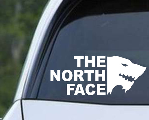 Game Of Thrones GOT - House Stark The North Face Die Cut Vinyl Decal Sticker - Decals City