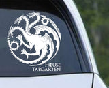 Game of Thrones House Targaryen Dragon ver b Die Cut Vinyl Decal Sticker - Decals City