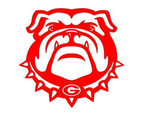 Georgia Bulldogs Die Cut Vinyl Decal Sticker - Decals City
