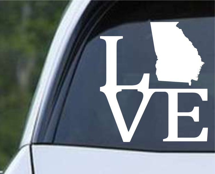 Georgia State Love GA - USA America Die Cut Vinyl Decal Sticker - Decals City