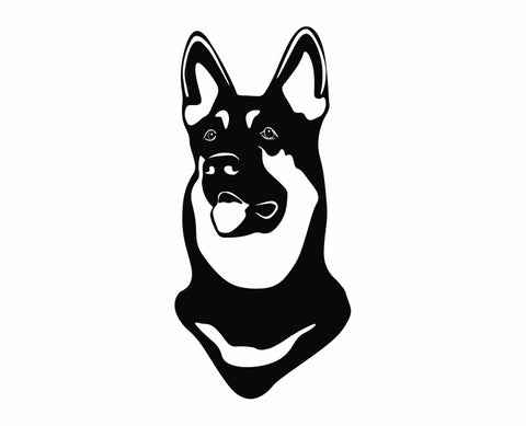 German Shepherd Dog 1 Die Cut Vinyl Decal Sticker - Decals City