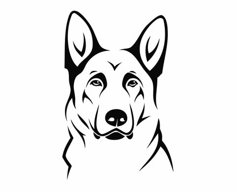German Shepherd Dog 11 Die Cut Vinyl Decal Sticker - Decals City