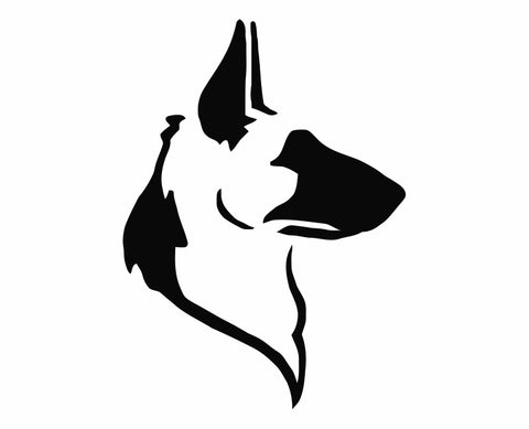 German Shepherd Dog 14 Die Cut Vinyl Decal Sticker - Decals City