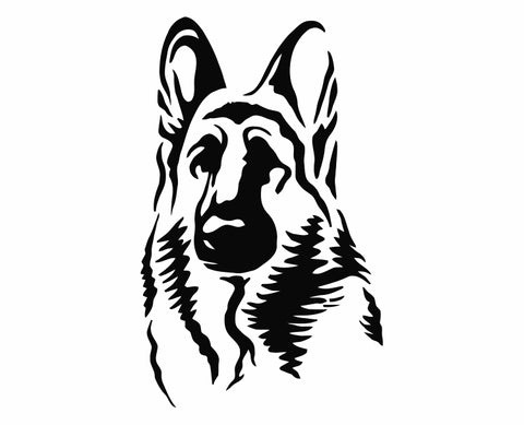 German Shepherd Dog 15 Die Cut Vinyl Decal Sticker - Decals City