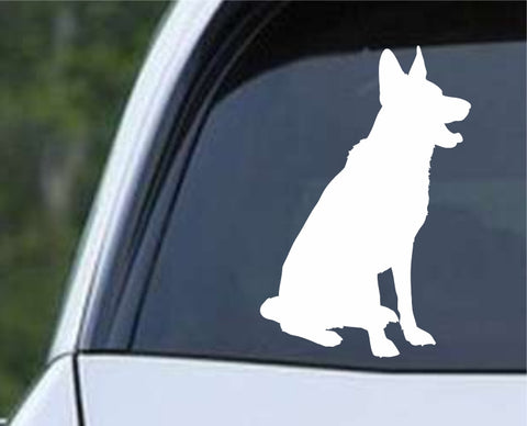 German Shepherd Dog 16 Die Cut Vinyl Decal Sticker - Decals City