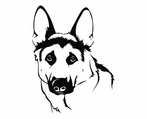 German Shepherd Dog 17 Die Cut Vinyl Decal Sticker - Decals City