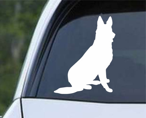 German Shepherd Dog 18 Die Cut Vinyl Decal Sticker - Decals City