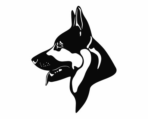 German Shepherd Dog 2 Die Cut Vinyl Decal Sticker - Decals City