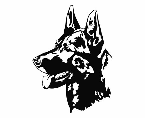 German Shepherd Dog 22 Die Cut Vinyl Decal Sticker - Decals City