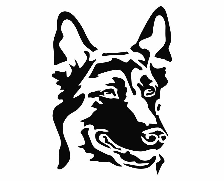 German Shepherd Dog 23 Die Cut Vinyl Decal Sticker - Decals City