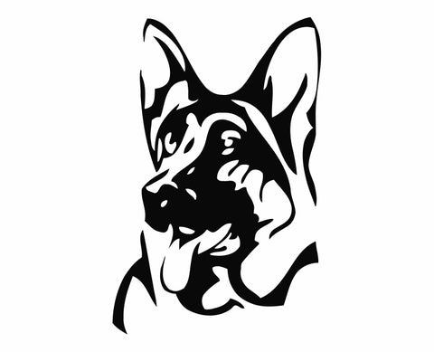 German Shepherd Dog 25 Die Cut Vinyl Decal Sticker - Decals City