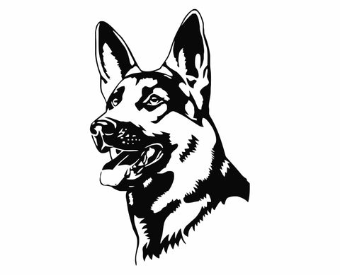 German Shepherd Dog 26 Die Cut Vinyl Decal Sticker - Decals City
