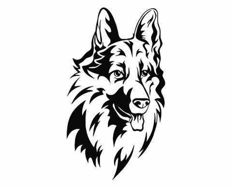 German Shepherd Dog 28 Die Cut Vinyl Decal Sticker - Decals City