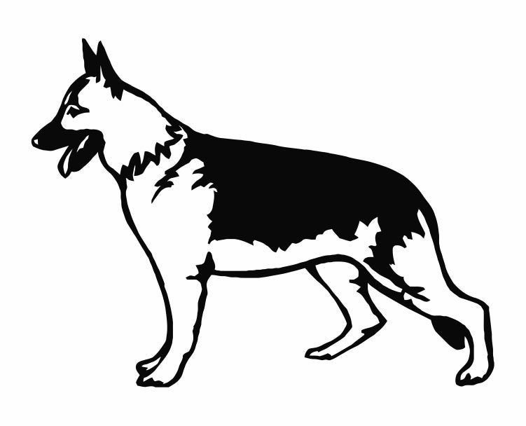 German Shepherd Dog 32 Die Cut Vinyl Decal Sticker - Decals City