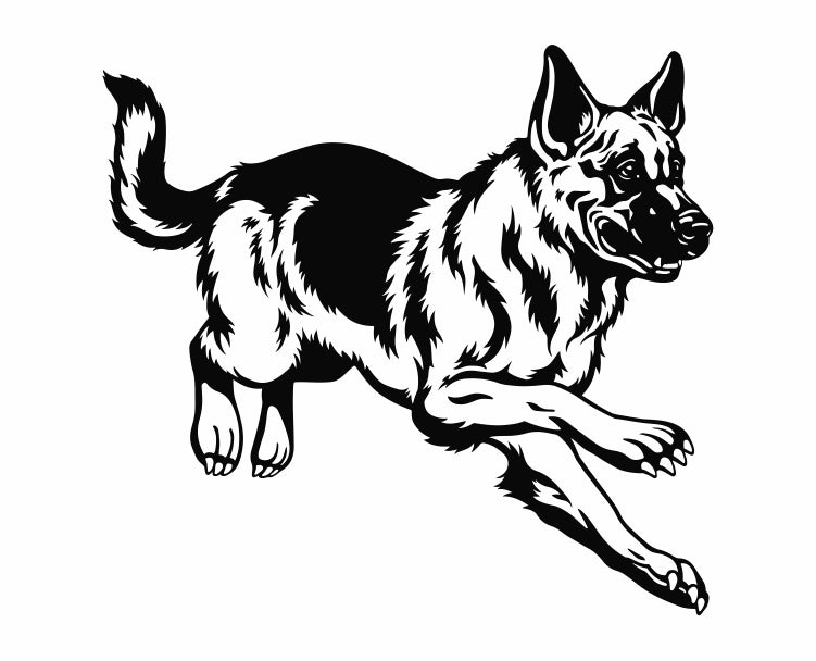 German Shepherd Dog 6 Die Cut Vinyl Decal Sticker - Decals City