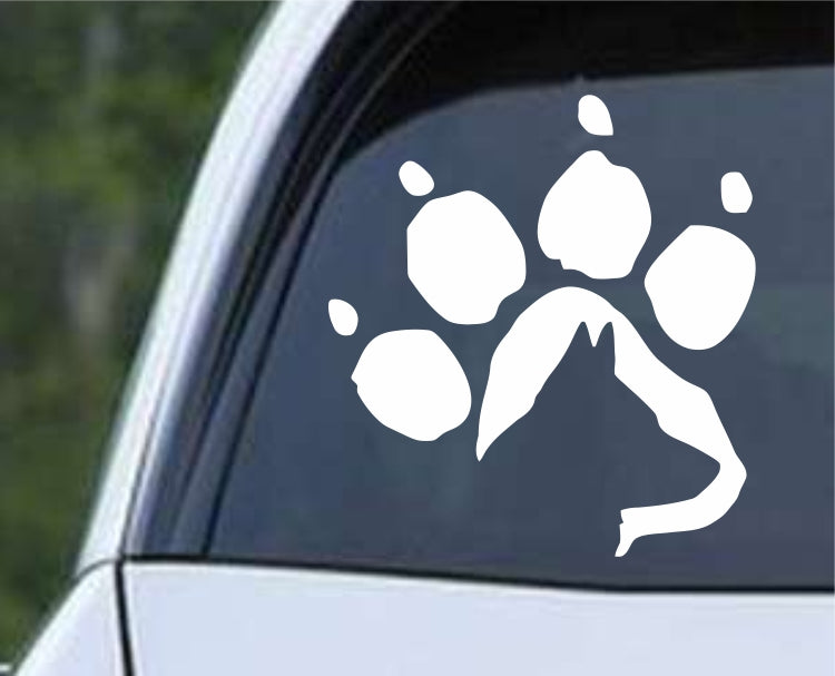 German Shepherd Dog Paw Print Die Cut Vinyl Decal Sticker - Decals City