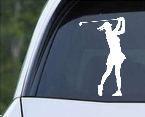 Golf Silhouette v10 Die Cut Vinyl Decal Sticker - Decals City