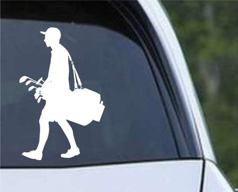 Golf Silhouette v11 Die Cut Vinyl Decal Sticker - Decals City