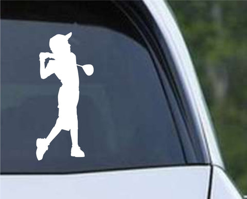 Golf Silhouette v12 Die Cut Vinyl Decal Sticker - Decals City