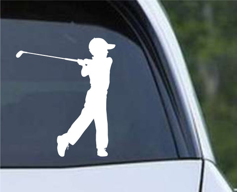 Golf Silhouette v13 Die Cut Vinyl Decal Sticker - Decals City