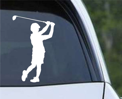 Golf Silhouette v14 Die Cut Vinyl Decal Sticker - Decals City