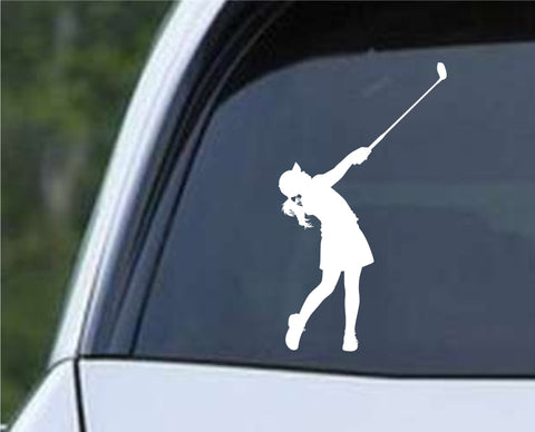 Golf Silhouette v15 Die Cut Vinyl Decal Sticker - Decals City