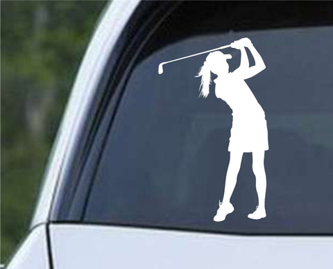 Golf Silhouette v16 Die Cut Vinyl Decal Sticker - Decals City