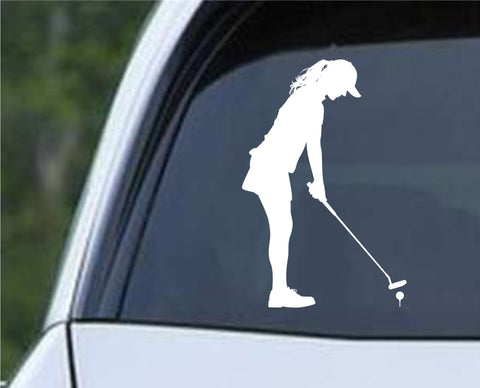 Golf Silhouette v17 Die Cut Vinyl Decal Sticker - Decals City