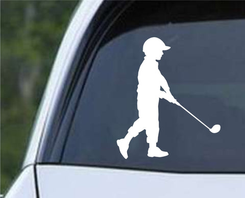 Golf Silhouette v19 Die Cut Vinyl Decal Sticker - Decals City