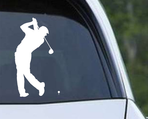 Golf Silhouette v1 Die Cut Vinyl Decal Sticker - Decals City