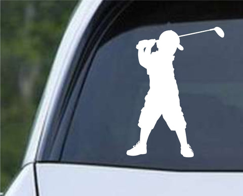 Golf Silhouette v20 Die Cut Vinyl Decal Sticker - Decals City