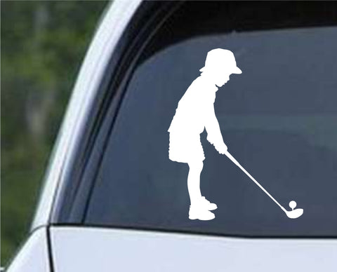 Golf Silhouette v21 Die Cut Vinyl Decal Sticker - Decals City