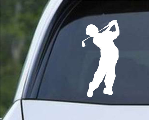 Golf Silhouette v22 Die Cut Vinyl Decal Sticker - Decals City