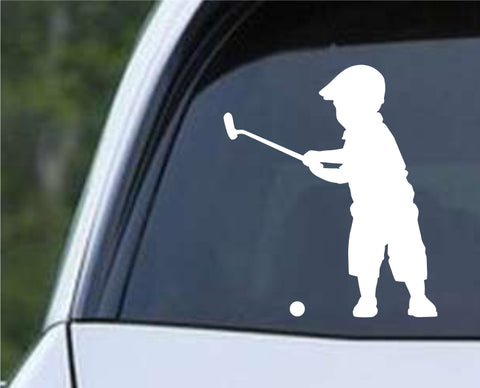 Golf Silhouette v23 Die Cut Vinyl Decal Sticker - Decals City