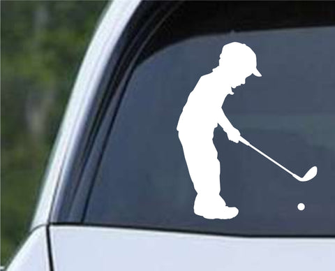 Golf Silhouette v24 Die Cut Vinyl Decal Sticker - Decals City