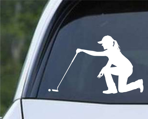 Golf Silhouette v25 Die Cut Vinyl Decal Sticker - Decals City
