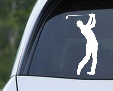 Golf Silhouette v2 Die Cut Vinyl Decal Sticker - Decals City