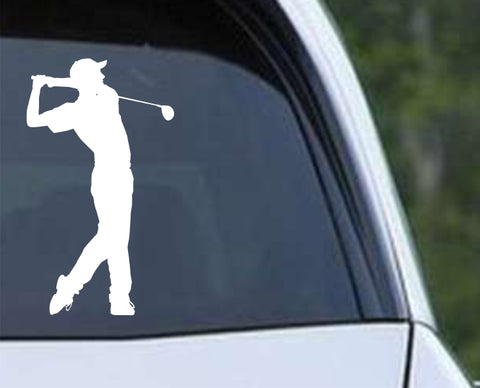 Golf Silhouette v3 Die Cut Vinyl Decal Sticker - Decals City
