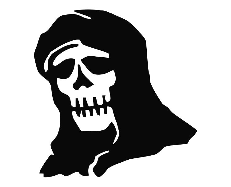 Grim Reaper Skull (b) Die Cut Vinyl Decal Sticker - Decals City