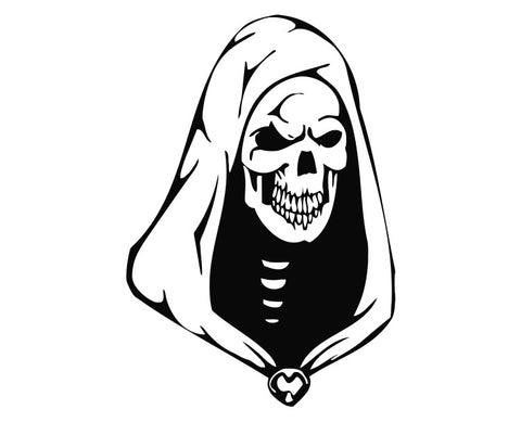 Grim Reaper Skull Die Cut Vinyl Decal Sticker