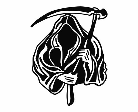 Grim Reaper Holding Scythe (o) Die Cut Vinyl Decal Sticker - Decals City